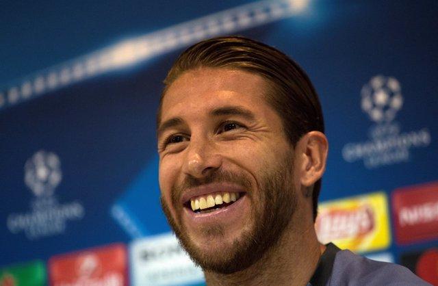 El capitán del Real Madrid Sergio Ramos en rueda de prensa