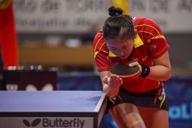 La española María Xiao, jugadora de tenis de mesa