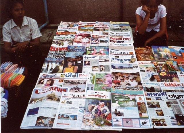 Periódicos de Birmania