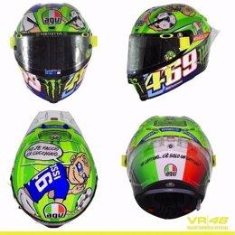 Valentino Rossi casco Nicky Hayden Francesco Totti Gran Premio Italia