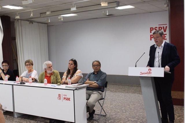 El 'president', en su intervención en la asamblea de Izquierda Socialista