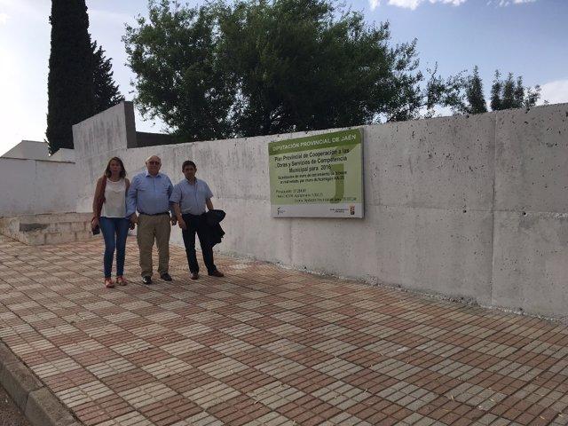 Visita del presidente de la Diputación de Jaén al municipio de Carboneros
