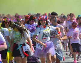 Málaga acoge este domingo la carrera solidaria Unicaja Color Road, en favor de Unicef