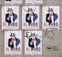 Obra 'el Muro' en Microteatro Málaga