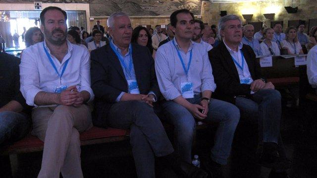Javier Arenas, José Enrique Fernández de Moya,José Antonio Nieto y Adolfo Molina
