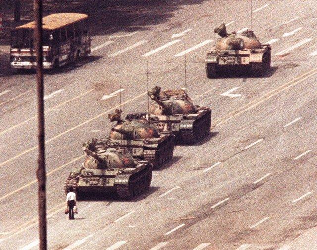 Protestas en la plaza de Tiananmen en 1989