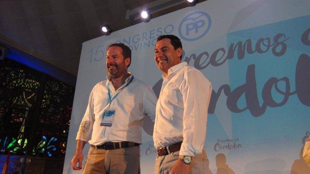 Juanma Moreno con Adolfo Molina