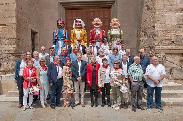 Uxue Barkos participa en Cascante en el Día del Navarro Ausente