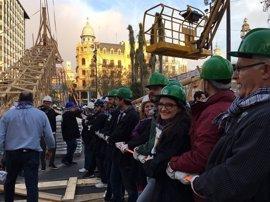 Mónica Oltra, fallera mayor de su comisión de València en 2018 al ser la única candidata