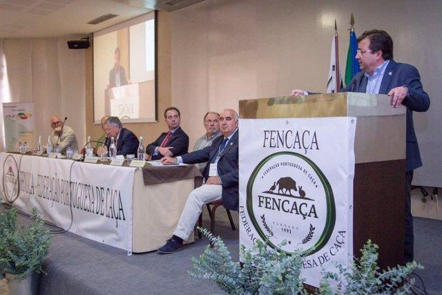 Vara en el congreso de caza en Évora