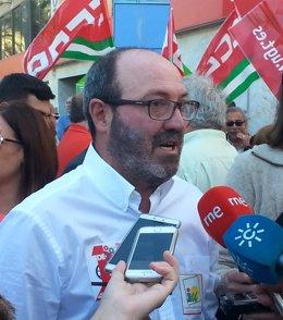 El coordinador de IU en Huelva, Pedro Jiménez