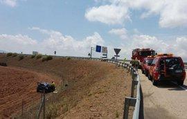 Dos heridos en un accidente de tráfico en la A-23, en Longares