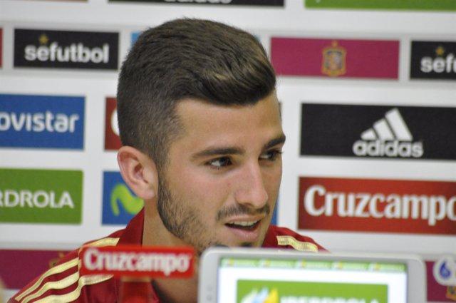 José Luis Gayà, rueda de prensa selección Española de futbol