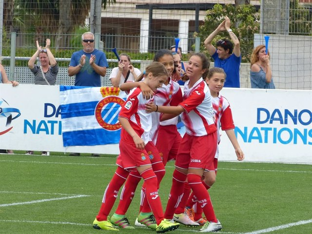 El Espanyol Femenino en la Danone Nations Cup