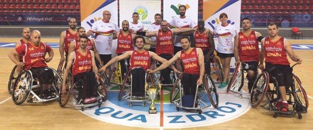 La selección española de baloncesto en silla de ruedas