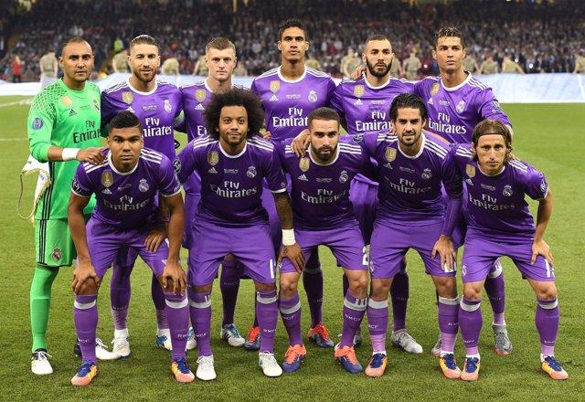 Once del Real Madrid en la final de Cardiff