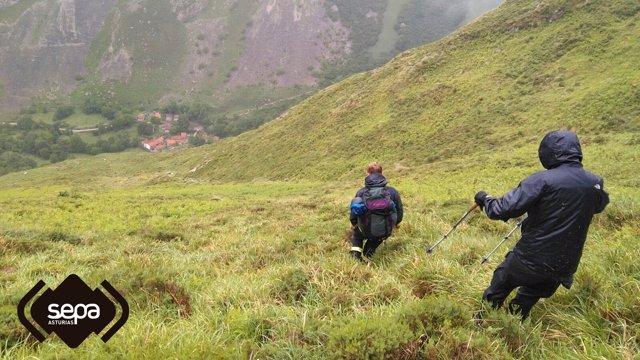 Rastreo de montaña en Cabrales