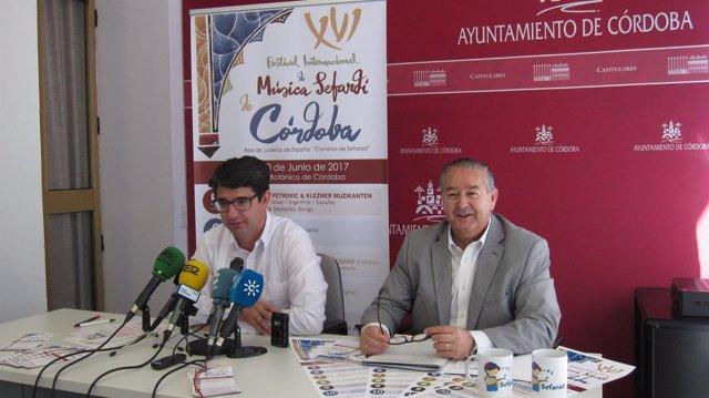 Presentación del Festival de Música Sefardí con García y Pérez de la Concha