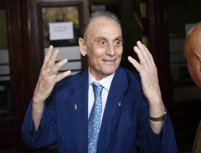 Manuel Ruiz de Lopera, a su llegada a los juzgados