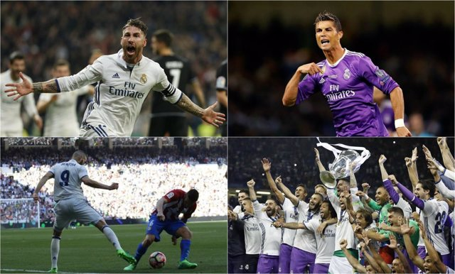 Real Madrid montaje collage Champions