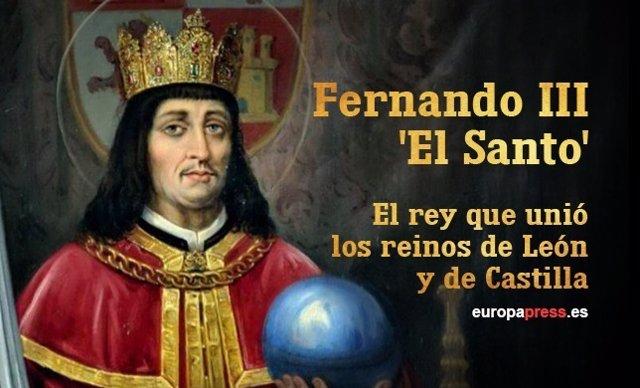 Infografía del rey Fernando III 'El Santo'