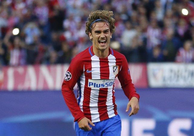 El Jugador Del Atlético De Madrid Antoine Griezmann