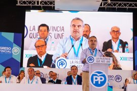 Fragoso es reelegido como presidente del PP en Badajoz y afronta su tercer mandato
