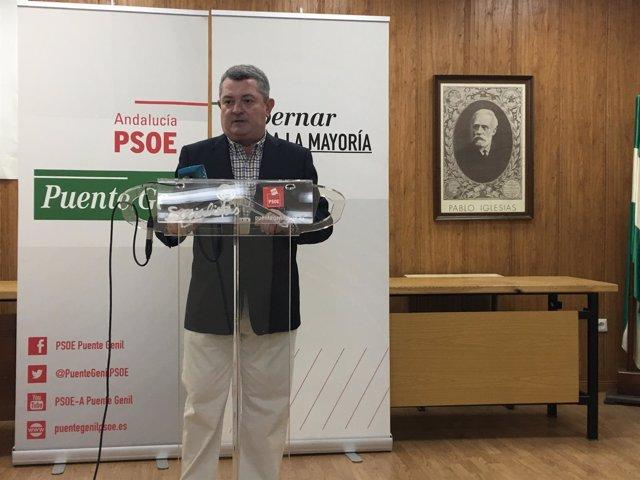 Rueda de prensa del diputado del PSOE-A Jesús María Ruiz