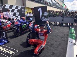 Dovizioso completa el triplete italiano en Mugello y Viñales concluye segundo