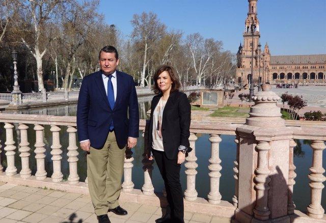 Antonio Sanz y Soraya Sáenz de Santamaría