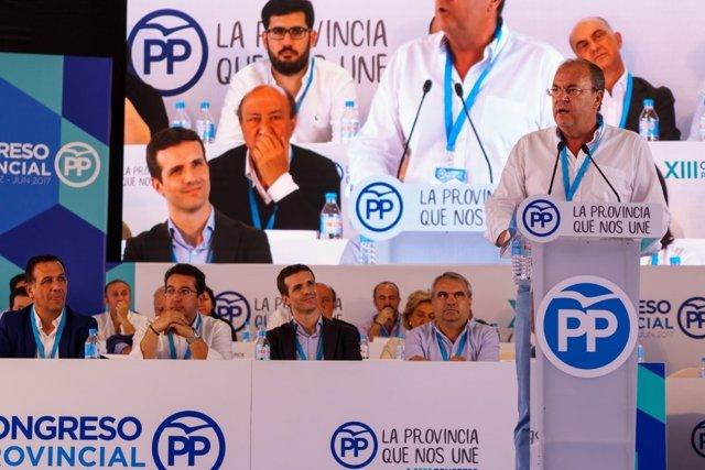 Monago interviene en el congreso provincial del PP