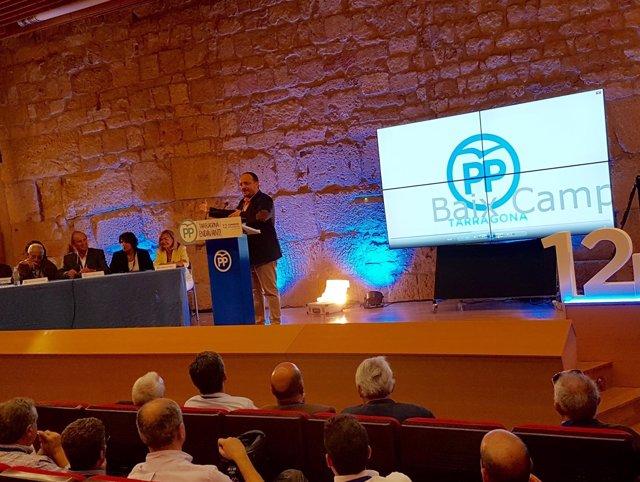 Alejandro Fernández en el XII Congreso del PP de Tarragona