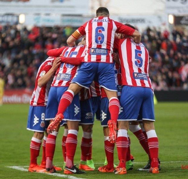 El Girona celebra