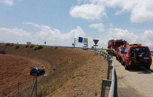 Dos Heridos En Un Accidente De Tráfico En La Autovía A 23 A La Altura De Longare