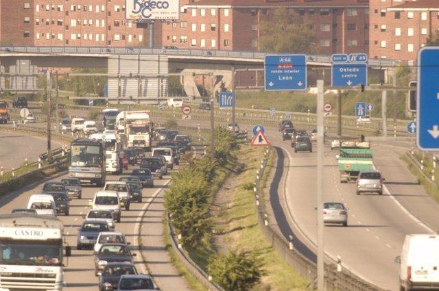 Carreteras asturianas, autopista, tráfico
