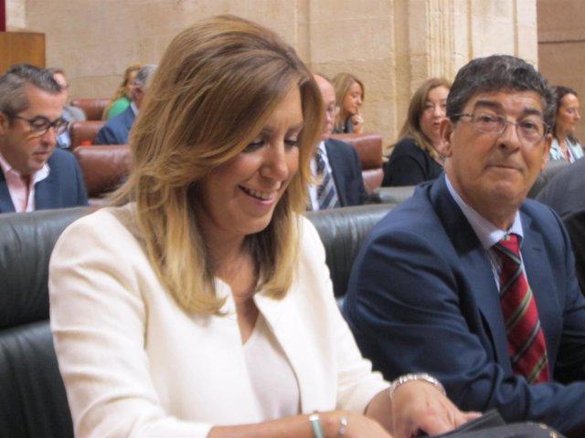 Susana Díaz, hoy junto a Diego Valderas