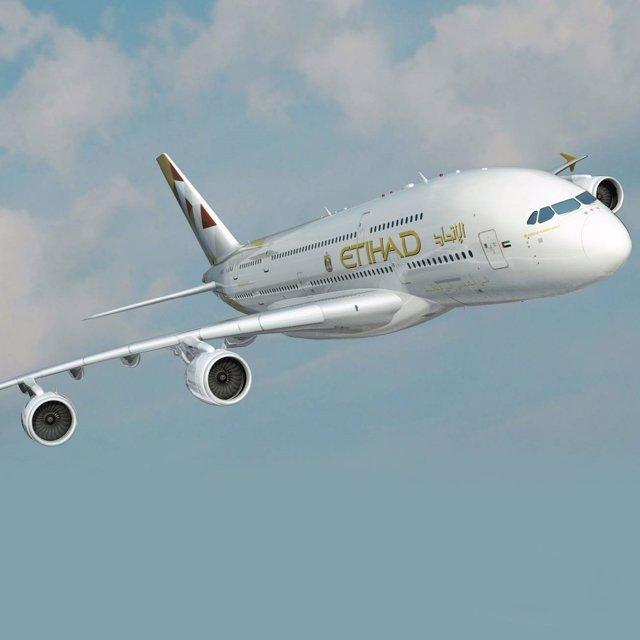Avión de Etihad Airlines