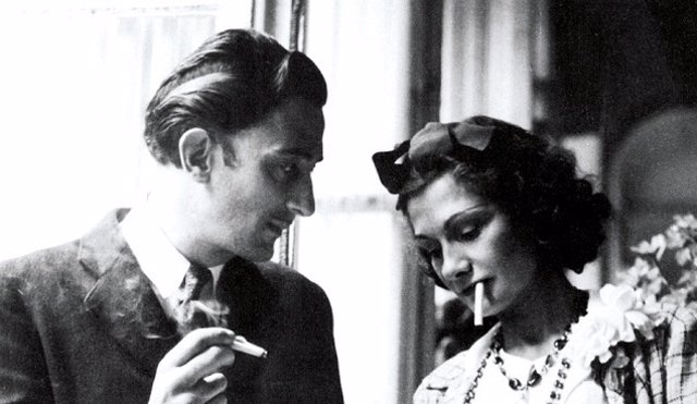 Coco Chanel y Salvador Dalí.