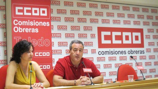 León y Mena en rueda de prensa
