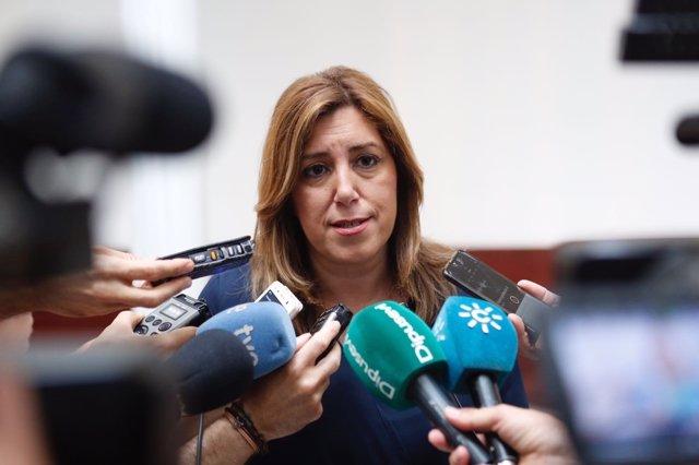 Díaz atiende a los medios tras un minuto de silencio por atentados de Londres