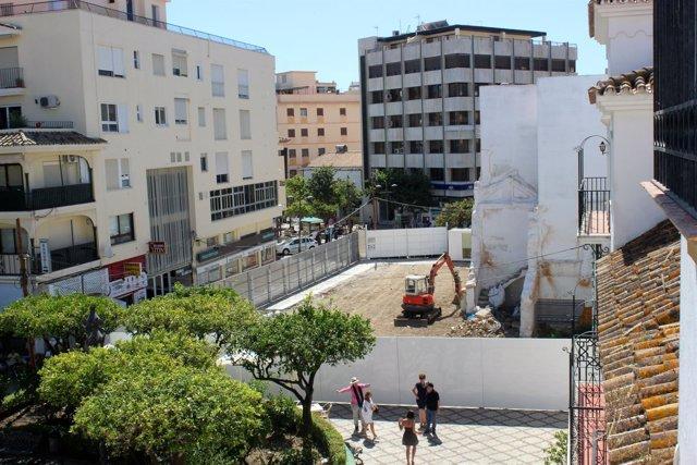 Comienzo de las obras del primero de los hoteles en Estepona