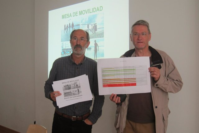 Rafael Casuso y Luis Cuena, de la Mesa de Movilidad de la Bahía de Santander