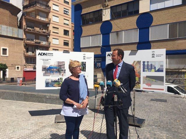 Pelegrín y Guillén presentan remodelación Plaza Europa