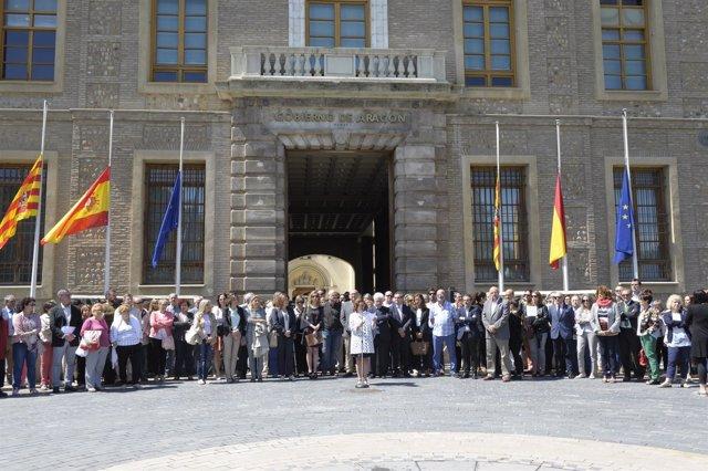 Minuto de silencio en el Gobierno de Aragón tras el atentado de Londres