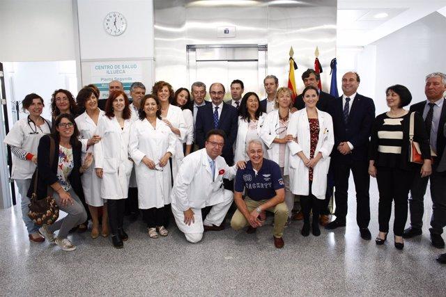 Inauguración del centro de salud de Illueca (Zaragoza)