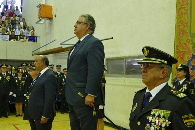 Zoido, en la Escuela de Policía de Ávila.