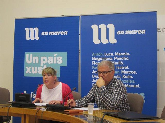 Rueda de prensa de Carmen Santos y Manuel Lago (En Marea)