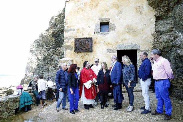 Celebración de Santa Justa en la ermita de Ubiarco