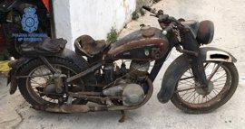 Recuperan en Palma una motocicleta robada de la Primera Guerra Mundial
