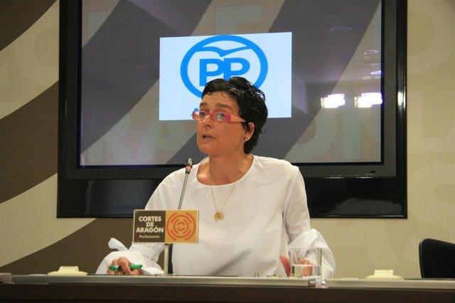 La portavoz de Bienestar del Partido Popular (PP) en las Cortes, Ana Marín.